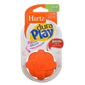 Игрушка для собак Hartz - Мяч рельефный, латекс с наполнителем, запах бекона, средний, микс