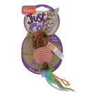Игрушка для кошек Hartz - плетеная круглая мышка, микс