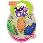 Игрушка для кошек Hartz - Три мышки разноцветные, мягкая, микс