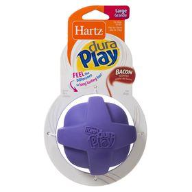 Игрушка для собак Hartz - Мяч рельефный, латекс с наполнителем, запах бекона, большой, микс