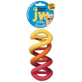 Игрушка для собак J.W. - Спиралька, каучук, маленькая Dog in Action, small, микс
