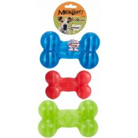 Игрушка для собак J.W. — Косточка суперупругая Мегаласт, резина, большая, микс