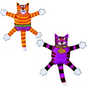 """Игрушка для собак Fat Cat - """"Злобный кот"""", большая, мягкая, микс"""