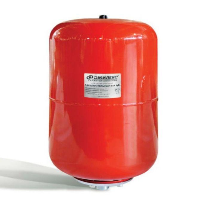 Расширительный бак Джилекс, для систем отопления, металлический фланец, 35 л