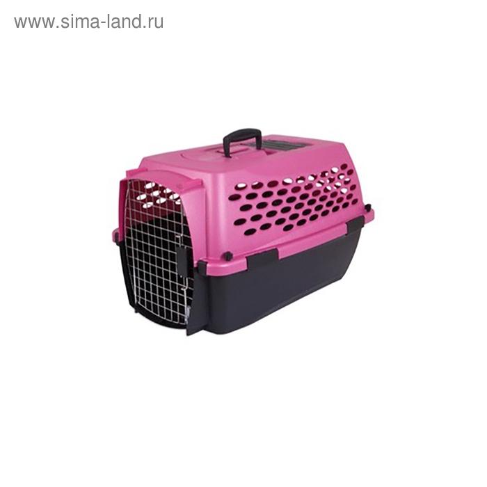 Переноска для домашних животных Petmate Кэннэл Фэшн 24, розовая, пластик, 61x43x37см