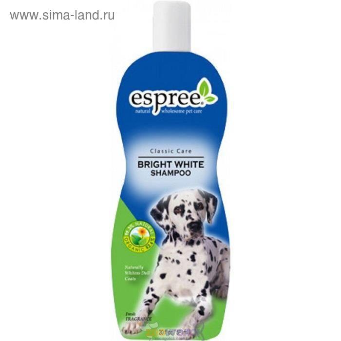 Шампунь Espree «Сияющая белизна», для собак и кошек со светлой шерстью, 355 мл