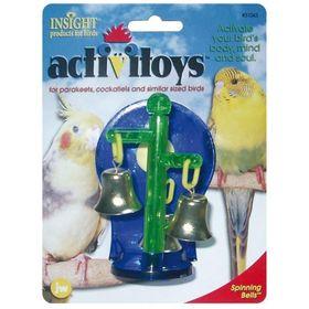 Игрушка для птиц - Крутящиеся колокольчики, пластик, микс