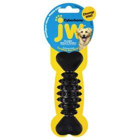 Игрушка для собак J.W. - Косточка с шипами, каучук, средняя, микс