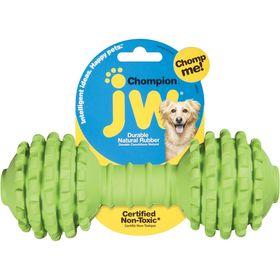 Игрушка для собак J.W. - Гантель с шипами, каучук, маленькая, микс
