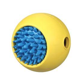"""Игрушка для собак J.W.""""Мячик с ёжиком"""", каучук, большая, микс"""