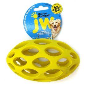 Игрушка для собак J.W. - Мяч для регби сетчатый, каучук, средняя, микс