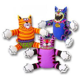"""Игрушка для собак Fat Cat """"Злобный кот"""", маленькая, мягкая, микс"""
