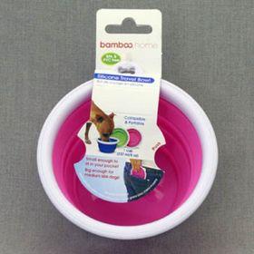 Миска Bamboo для собак, складная, объем 237 мл, силикон, микс