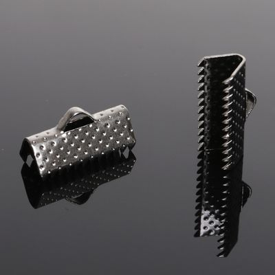 Зажим для ленты (набор 10шт) 16мм СМ-341, цвет серый