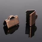 Зажим для ленты (набор 20шт) 10мм СМ-339, цвет меди