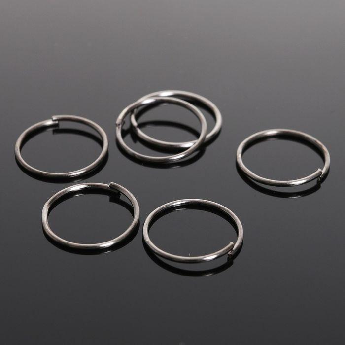 Кольцо соединительное 0,7*12мм (набор 50 гр, ±440 шт) СМ-995, цвет серый