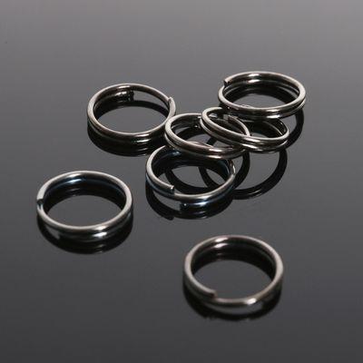 Кольцо соединительное двойное 0,9мм (набор 50 гр, ±330 шт) СМ-1028, цвет серый