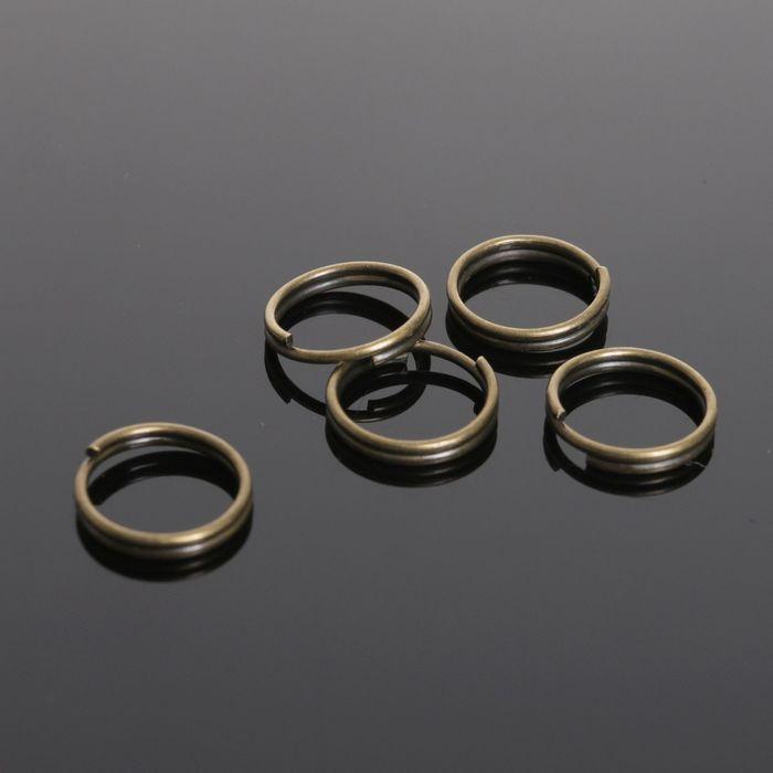 Кольцо соединительное двойное 0,9мм (набор 50 гр, ±330 шт) СМ-1028, цвет бронзы