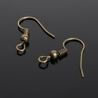 Швензы-крючки с бусиной СМ-214, (набор 5 пар), цвет бронзы