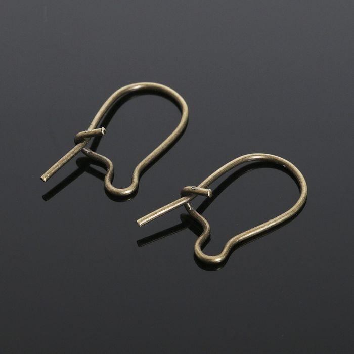 Швензы-петельки СМ-1069, (набор 10шт) 15мм, цвет бронзы