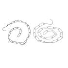 Цепочка-держатель для вешалок, с крючком, 22 звена 5*2, цвет МИКС