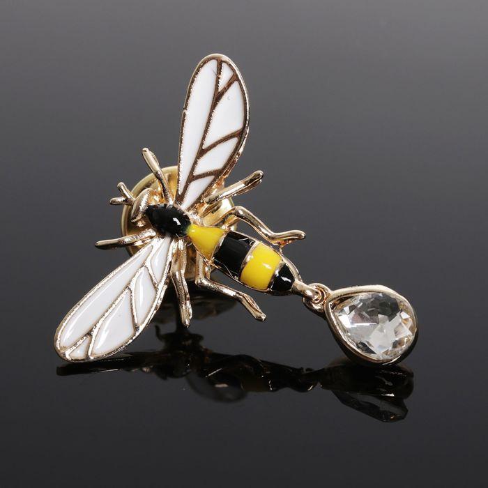 """Значок """"Пчёлка"""", цветная в золоте"""