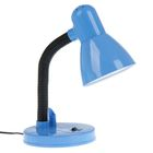 Лампа настольная с подставкой д/ручки голубая Е27 30х13х13 см