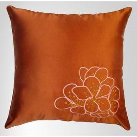Подушка декоративная с вышивкой, размер 45х45 см