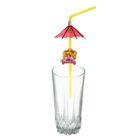 """Набор коктейльных трубочек с зонтиком """"Принцесса"""", 6 шт."""