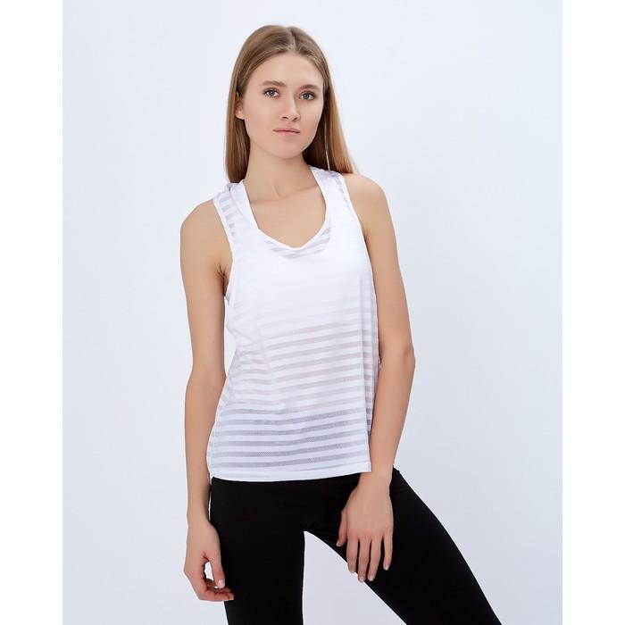 Спортивная майка ONLITOP Summer white размер 40-42, цвет белый