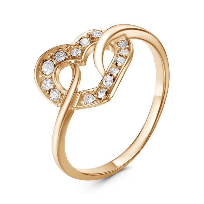 Кольцо ''Сердце'', позолота, 17 р-р 2251374