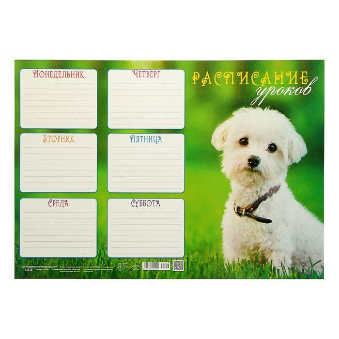 Маме день, расписание уроков с собаками шаблоны распечатать