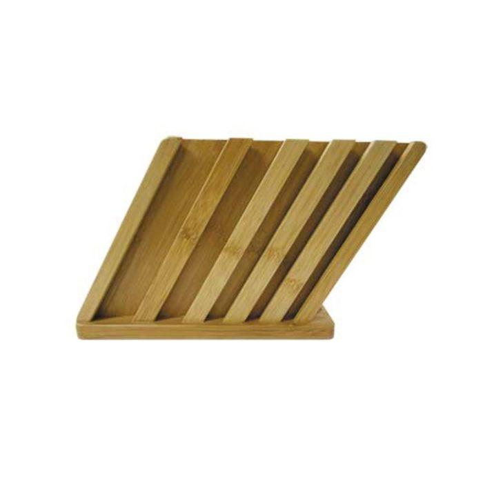 Подставка бамбуковая для доски и пяти ножей