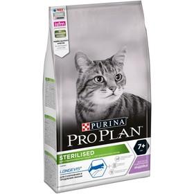 Сухой корм PRO PLAN для стерилизованных кошек старше 7 лет, индейка, 1.5 кг