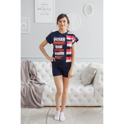 Комплект женский (футболка, шорты) ТК-318 МИКС, р-р 50