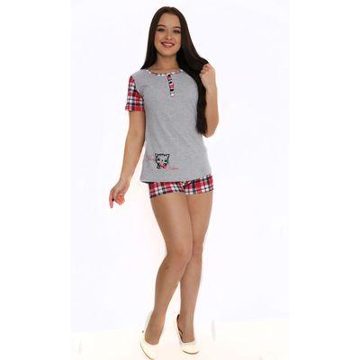 Комплект женский (футболка, шорты) ТК-310 МИКС, р-р 52