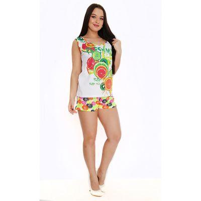 Комплект женский (майка, шорты), цвет МИКС, размер 52