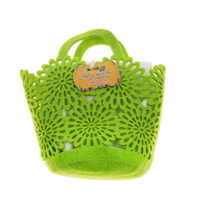 Набор полотенец Summer-green 30*30 см - 2 шт