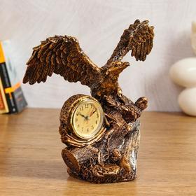 """Table clock """"eagle on the snag"""", 24х27 cm"""