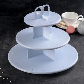 Подставка для капкейков и кейк-попсов, 3 уровня, 30×30 см