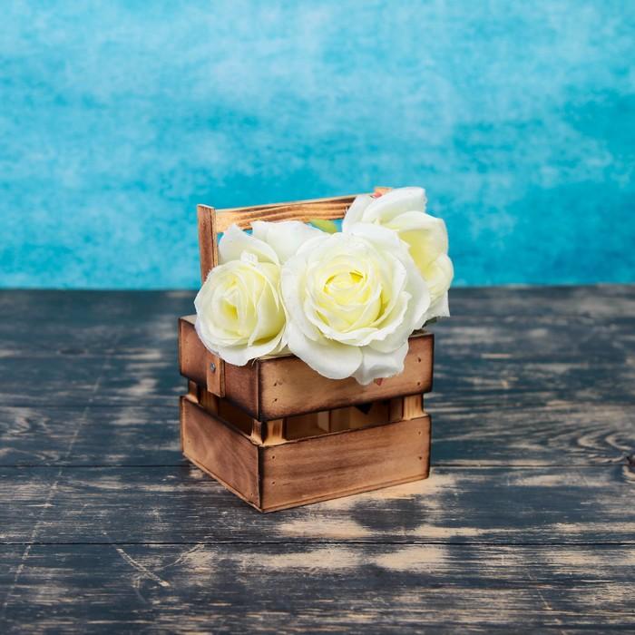 Кашпо флористическое, обожженное, со складной ручкой, 11х12х9см