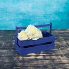 Кашпо флористическое, фиолетовое, со складной ручкой, 24,5х13,5х9см