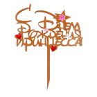 """Топпер """"С Днём Рождения, принцесса!"""" 16,5х21 см, оранжевый"""