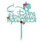 """Топпер """"С Днём Рождения, принцесса!"""" МИКС 16,5х21 см, мятный"""