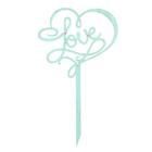Топпер LOVE 10х17,5 см, мятный