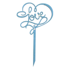 Топпер LOVE 10х17,5 см, синий