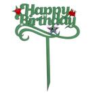 Топпер Happy Birthday 14х18,5 см, зелёный