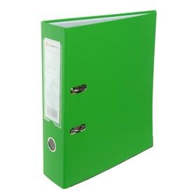 Folder A4, 80mm Lamark PP light green, metal edging, pocket, disassembled