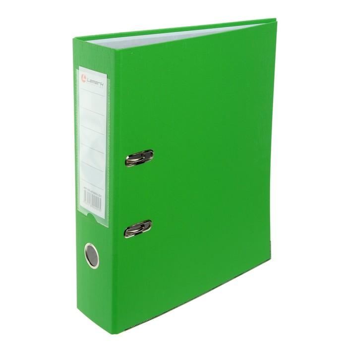 Папка-регистратор А4, 80 мм, PP Lamark, светло-зелёная, металлическая окантовка, карман, разобранный