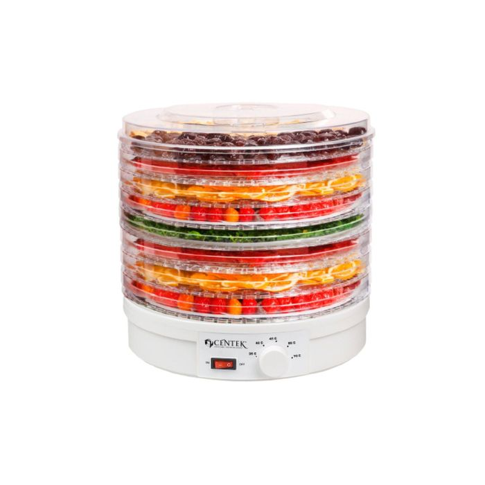 Сушилка для овощей и фруктов Centek CT-1656, 300 Вт,  16 л, до 8 кг, 8 поддонов